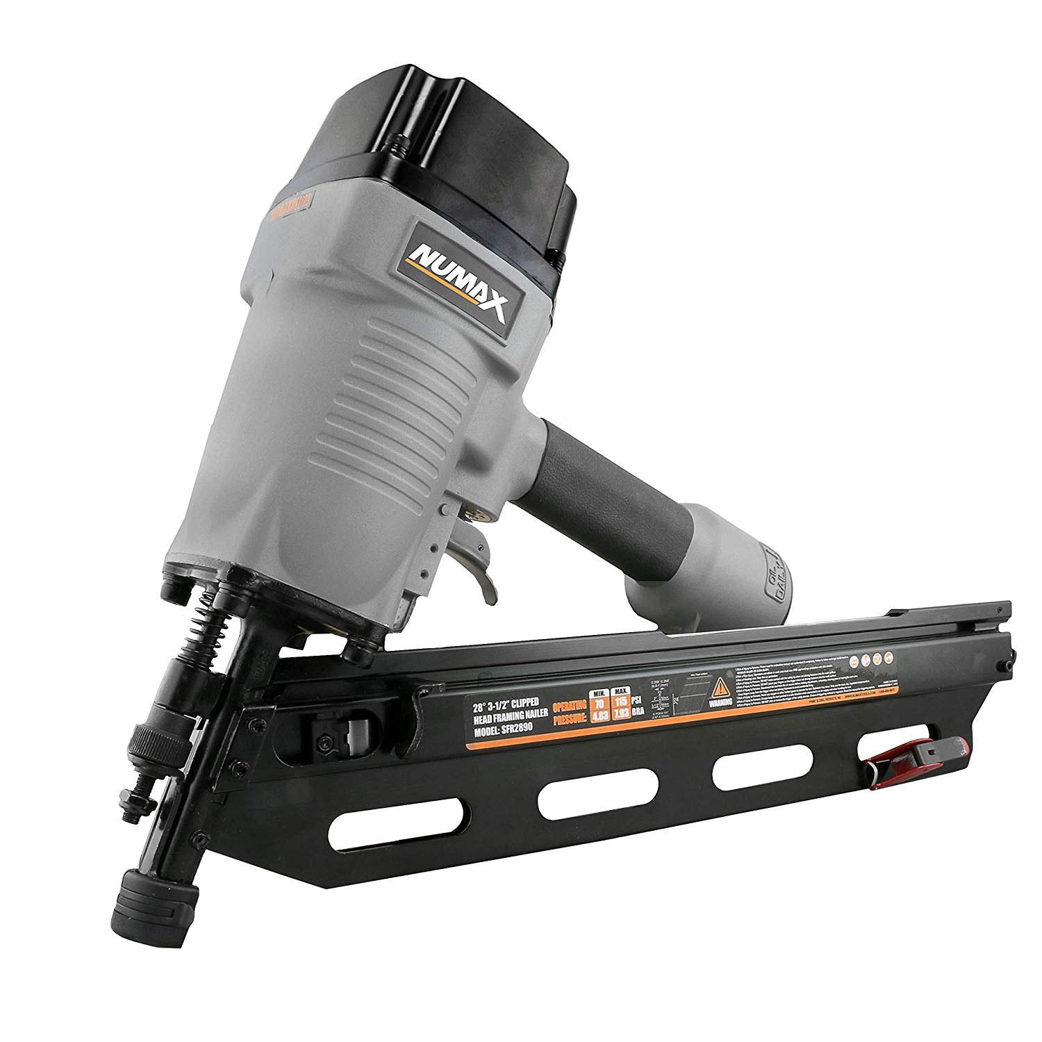 Pneumatic 34 Degree 3 1 2 Clipped Head Framing Nailer Numax